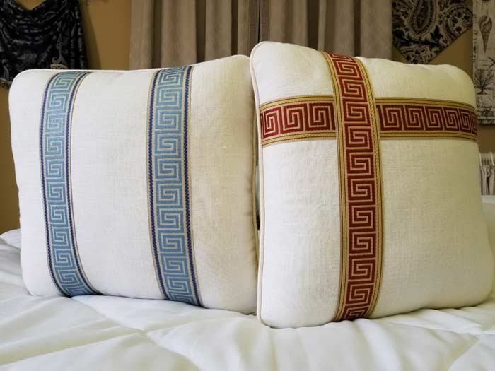 Have You Noticed All Of The Greek Key Trim Popping Up On Home Decor Lately Decorators Are Using This Stylish 225 Inch Decorative Braid In So Many