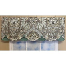 Double Layer Scalloped Valance - Carina Mink