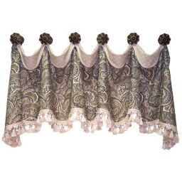 Cuff Top Valance - medallion hung