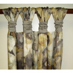 Gathered Tab Top Drapery Panels