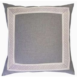 Greek Key Trim Pillow