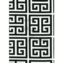 Labyrinth Black White Fabric