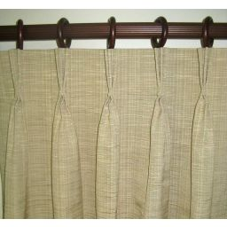 Pinch pleated custom curtains