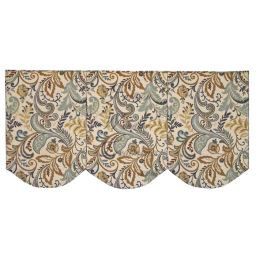 Board Mounted Scalloped Box Pleat Valance