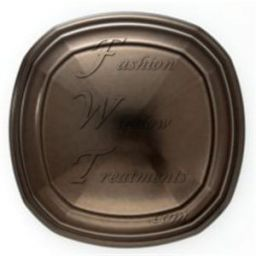 Transitional Square Metal Medallion Holdback