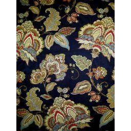 Valerian Indigo Fabric